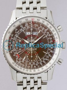 Breitling Chronomat A2133012 / Q509 Ouro Branco Caso Mens Automatic Bege Dial Assista