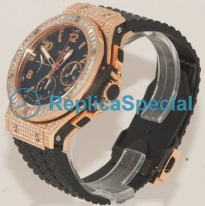 Bralecet Hublot Big Bang 301.PX.130.RX.094 Automatic Rubber árabe Black Dial Assista