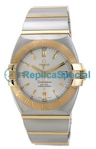 Omega Constellation 1203.30.00 Automatic Stainless Steel Ouro Bralecet prata Dial Assista