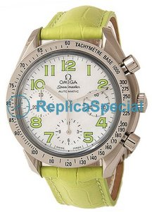 Omega Speedmaster Ladies 3834.72.35 Automatic Rodada Womens aço inoxidável caso Watch
