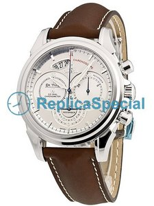 Omega De Ville 4850.30.37 prata Dial Leather Automatic Mens bezerro Brown Bralecet Assista